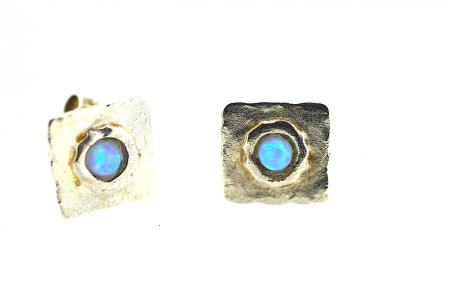 Yaron Morhaim Handmade Earrings (opal stud3)