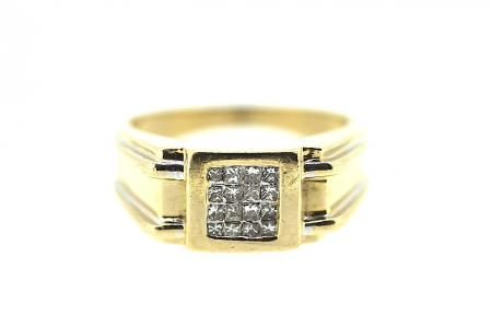 14ct Gold 43ct Diamond Signet Ring