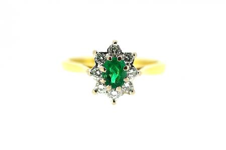 18ct Boodles Emerald and Diamond Ring