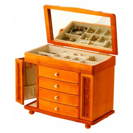 Ida Burl and Oakwood Jewellery Box (429)