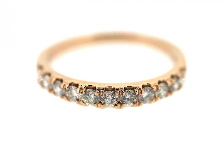 18ct Rose Half Eternity Ring (1434)