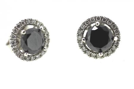 Interchangeable Black Diamond Studs (1423)