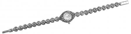 Solid Silver Marcasite Watch (1700)