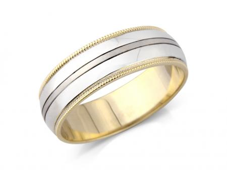 Two Tone Wedding Band (AMLH9)