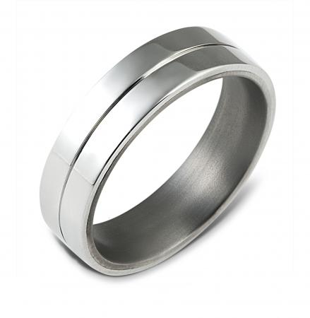 Wide Silver Groove Wedding Band (AMTI4)