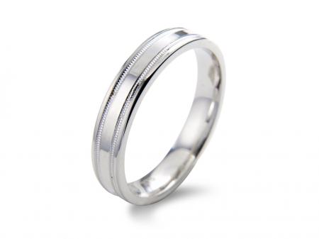 Beveled Groove Wedding Band (AM1063)