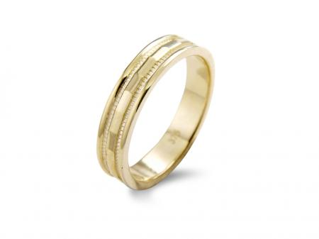 Beveled Centre Silver Wedding Band (AM1322Y)