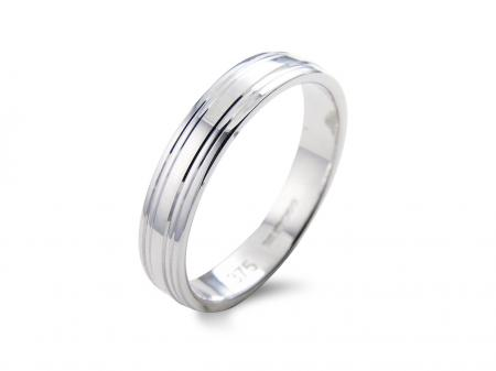 Multi Groove Silver Wedding Band (AM1002W)