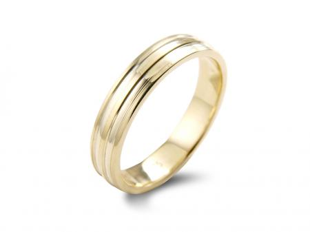 Yellow gold Wide Groove Wedding Band (AM1002Y)