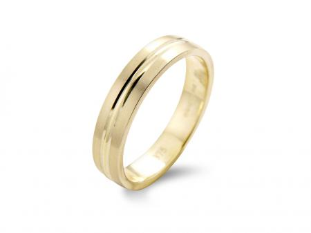Yellow Gold Groove Wedding Band (AM1026)