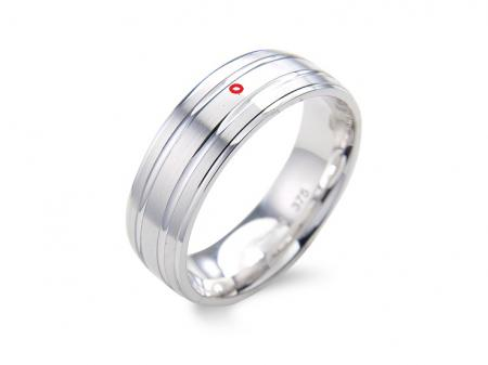 Silver Contemporary Groove Wedding Band (AM1081)