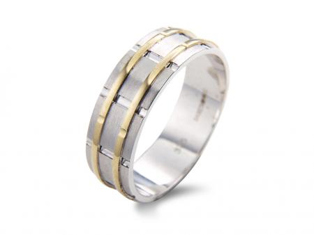 Modern Two Tone Chunky Wedding Band (AM1995)