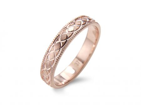 Rose Gold Entwined Design Wedding Band (AM1868)