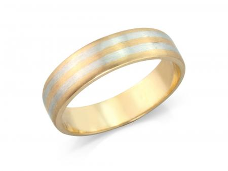 Brushed Striped Wedding Band(AM1142)