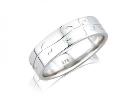 Silver Nature Design Wedding Band (AM1062)