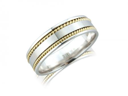 Two Gold Rope Wedding Band (AM5078)