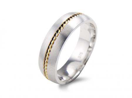 Gold Rope Centre Wedding Band (AM2035)