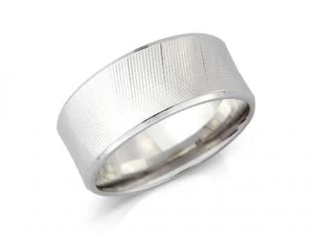 Silver Hologram Effect Wedding Band (AM5403)
