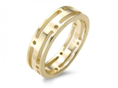 Contemporary Gold Gap Wedding Band (AM1706)