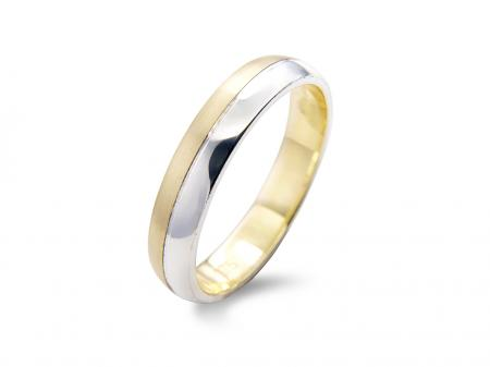 Two Tone Wedding Band (AM1122)