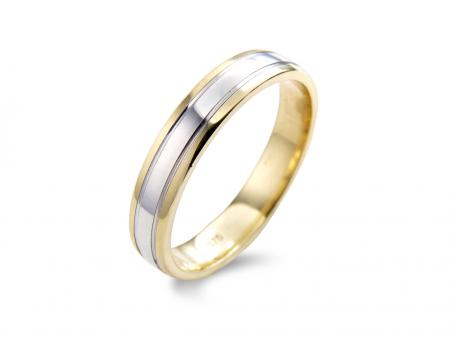 Gold Edge Two Tone Wedding Band (AM1117-4)