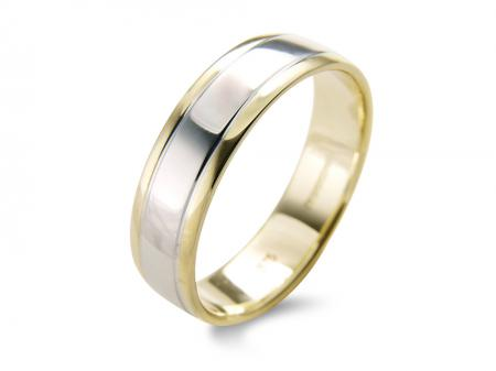 Polished Two Tone Unisex Wedding Band (AM1117-6)