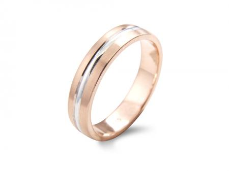 Rose wedding Band with Silver Centre (AM1802)