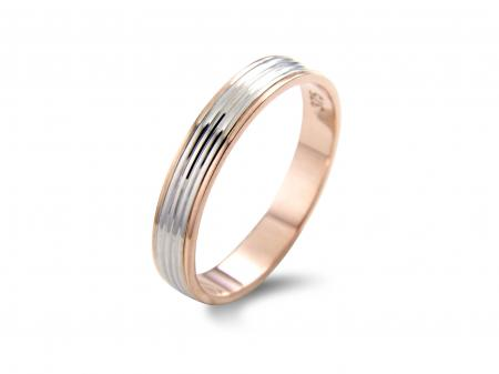 Slim Rose / Silver Wedding Band (AM0069)