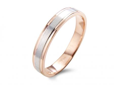 Two Tone Slim Wedding Band (AM1789)