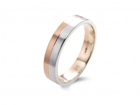 Two Tone Squared Wedding Band (AM1806)