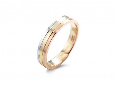 Three Colour Three Band Wedding Ring (AM0060)