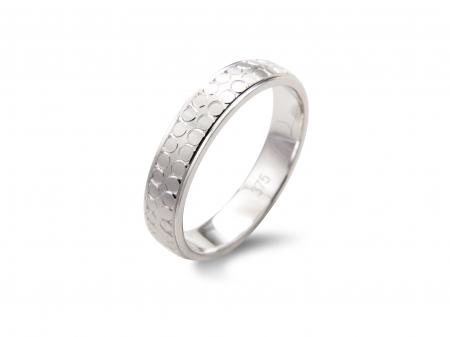 Plain Silver Circular Design Wedding Band  (AM1866W)