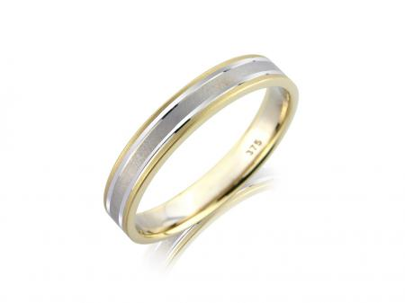 Two Tone Brushed Wedding Band (AM3908)