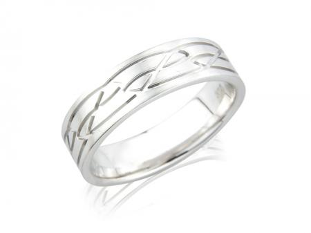 Chunky Celtic Style Wedding Band (AM1070)
