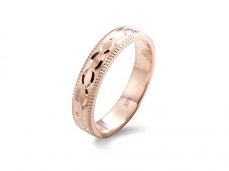 Rose Band with Diamond Cut Etching (AM1895R)