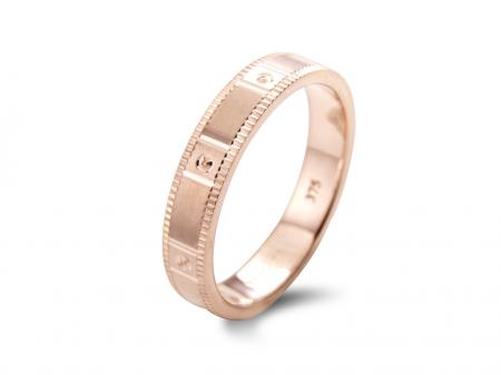 Rose Band with Squared Detailing (AM1902R)