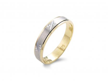 Two Tone Band with Etching (AM0036)