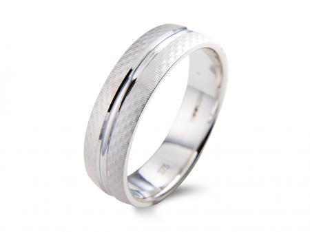 White Etched Ring with Groove (AM332W)