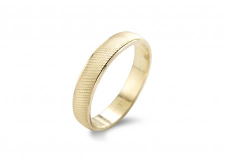 Gold Band with Criss Cross Etching (AM0043)