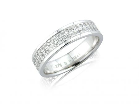 Full Pave Set Wedding Ring (AM0646)