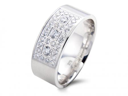 Wide Pave Set Wedding Band (AM1569)