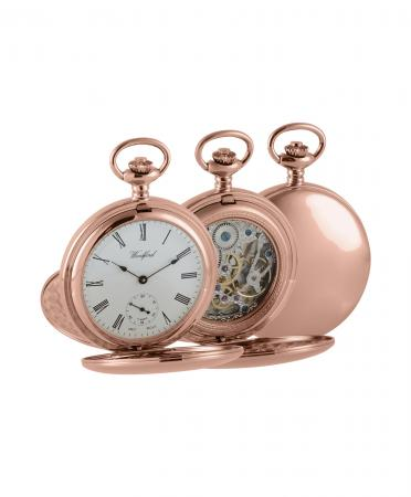 Rose Gold Skeleton Pocket Watch (1093)