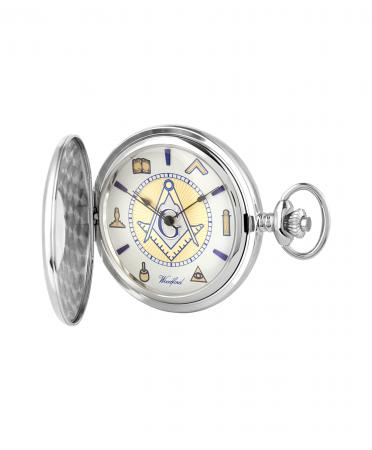 Sterling Silver Masonic Pocket Watch (1109)