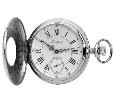 Chrome Mechanical Pocket Watch (1011)