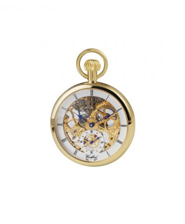 Gold Open Mechanical Pocket Watch (1044)