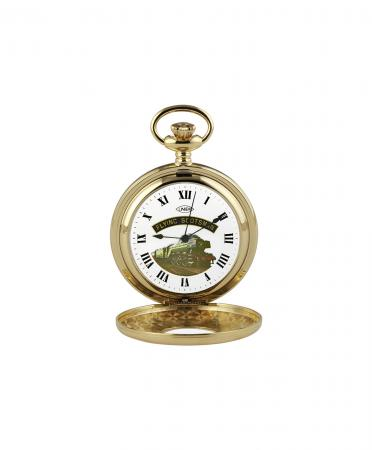 Gold Flying Scotsman Pocket Watch (ht102)