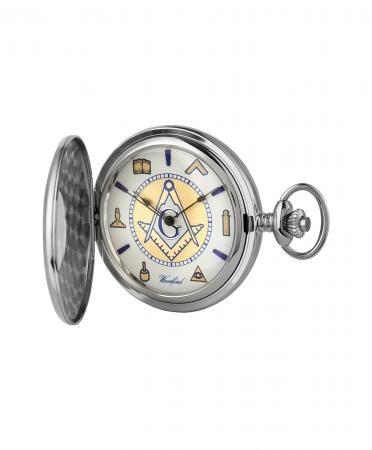 Masonic Pocket Watch Chrome (1111)