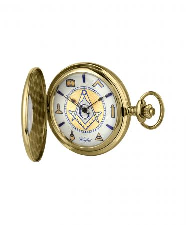 Gold Masonic Pocket Watch (1110)