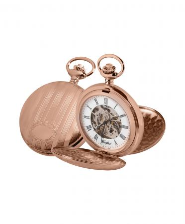 Rose Gold Pocket Watch Skeleton (1090)