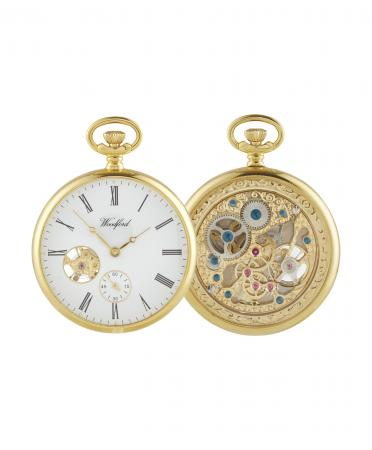 Gold Open Mechanical Pocket Watch (1105)